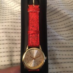 Red sparkle watch from Avon